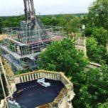 chantier vue toit escalier d'honneur -1